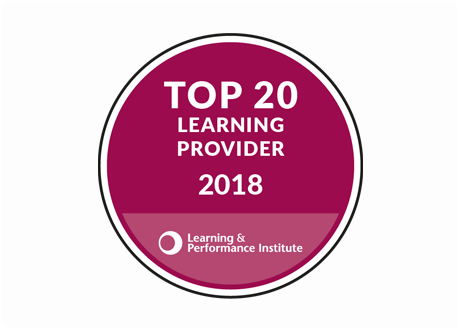 Top 20 Learning Provider 2018 by the Learning & Performance Institute