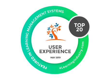Top 20 LMS for User Experience eLearning Industry award logo