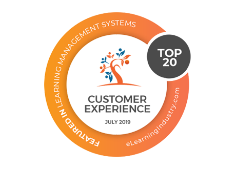 Top 20 LMS for Customer Experience eLearning Industry award logo