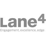Lane4 logo - Engagement, excellence, edge