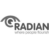 Radian logo - where people flourish