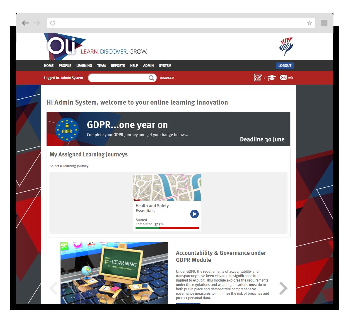 Jardine OLI GDPR Homepage